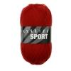 Sockenwolle Sport - 1480 rot uni